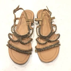 Maurices Beaded Gladiator Sandals—9